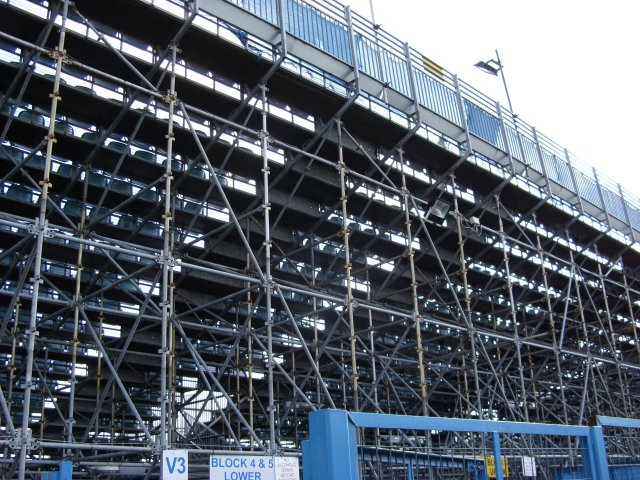 Rear of the Temporary Brian Moore Stand