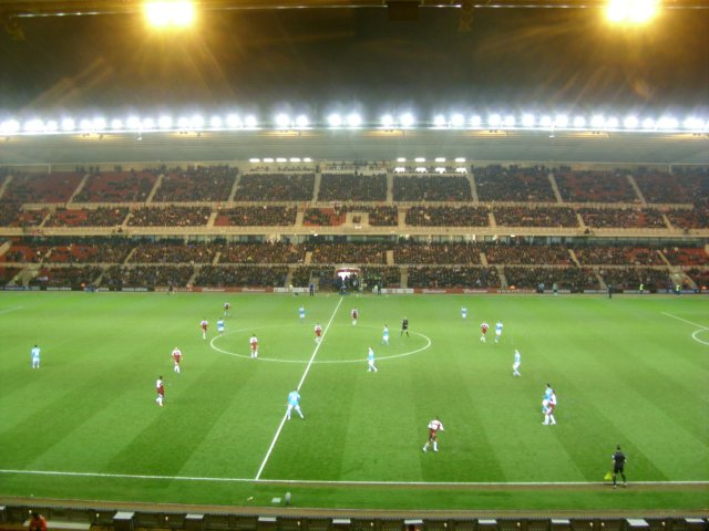 The West Stand During the Match